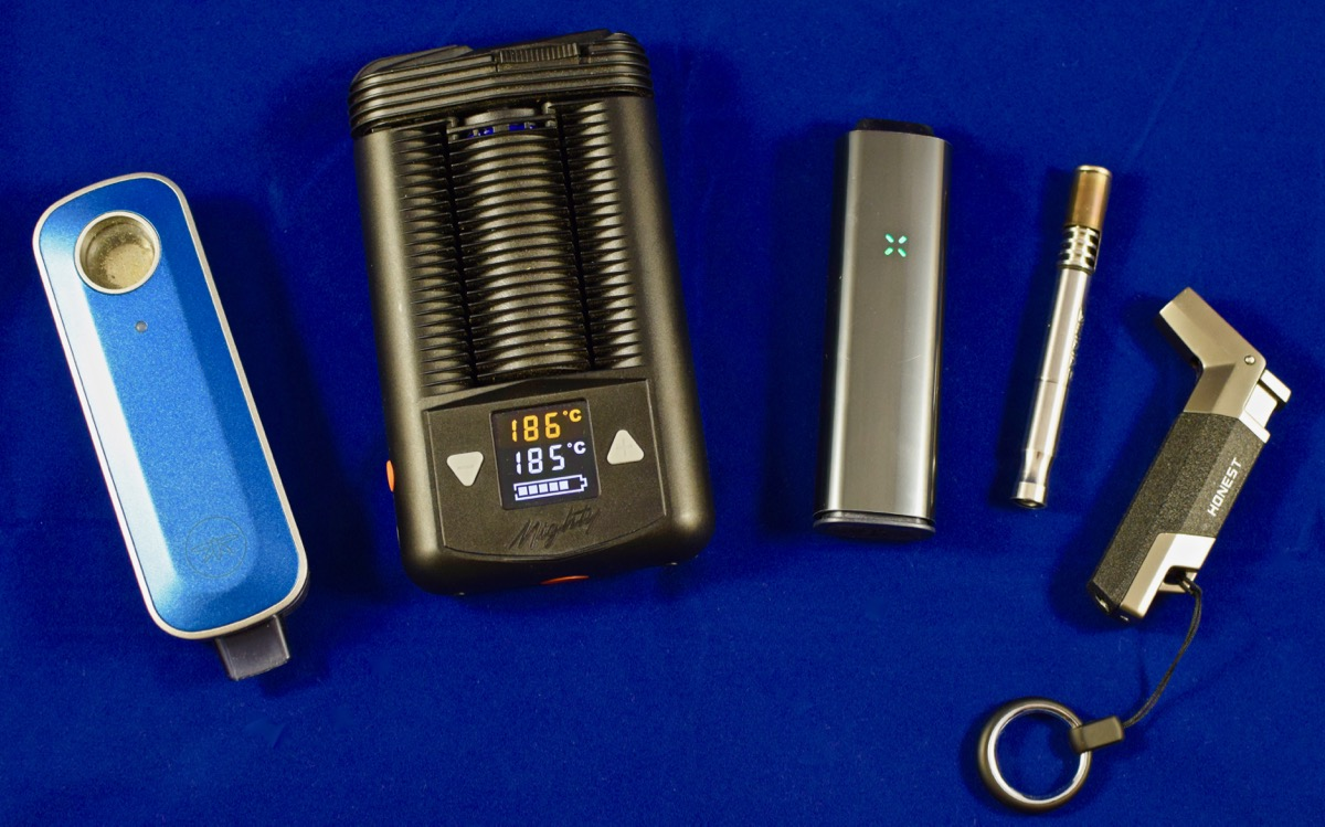 Hash vaporizer test line-up